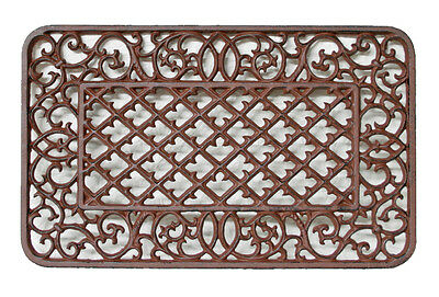 CAST IRON Doormat Lovely 'Victorian' Style Solid QUALITY 63cm x 39cm STUNNING