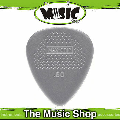 10 x Jim Dunlop Max Grip Nylon Standard Guitar Picks - .60mm Light Grey Pick New