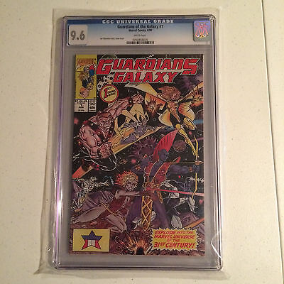 GUARDIANS OF THE GALAXY 1 / CGC 9.6 / WHITE PAGES / 1990 / MARVEL