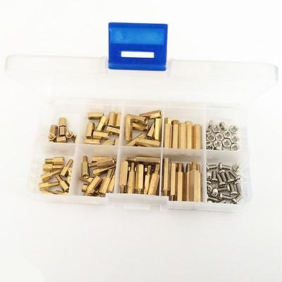 M3 Brass Standoffs/Nut/Screws Assortment Kit PCB Standoff Set in a Box