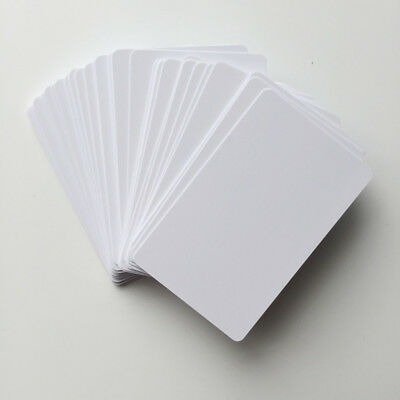 50pcs Blank white PVC inkjet ID cards for Epson & Canon double-sided printable