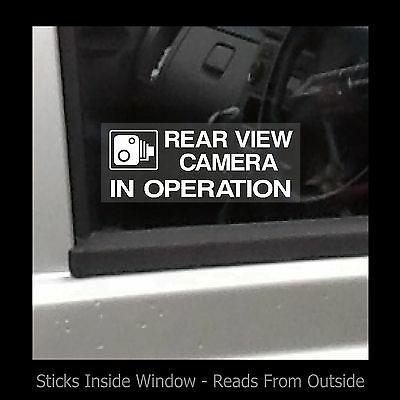 Rear view camera in operation - Window Sticker / Sign - Security / CCTV