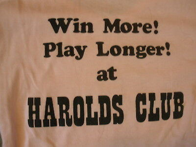 Harolds Club Casino Pink Ladies Large Scoup Neck T-Shirt