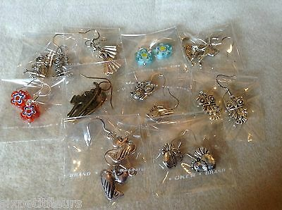 10 pairs earrings BIRDS CATS OWLS joblot wholesale jewellery carboot resale UK