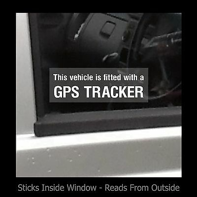 Vehicle fitted with a GPS Tracker - Window Sticker / Sign - Security - Theft