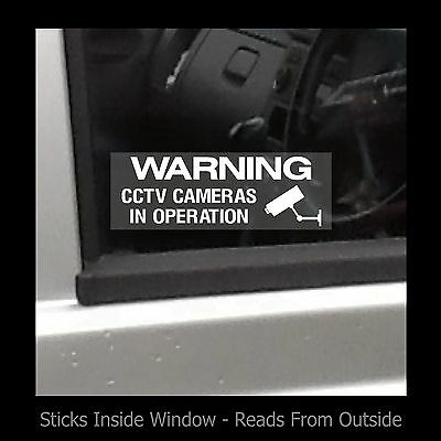 Warning CCTV Cameras in operation - Window Sticker / Sign - Security - Theft