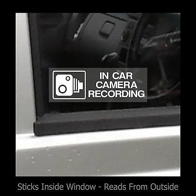 In car camera recording - Window Sticker / Sign - Security - Safety - Theft - TV