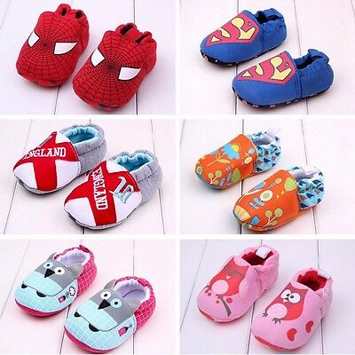 Summer Kids Toddler Baby Soft Sole Shoes anti-slip newborn to 18 months UK