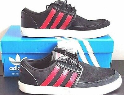 huge discount 384e1 210a1 Men s Adidas Skateboarding Seeley Suede Trainers Black Red Size UK 6 7 7 1 2