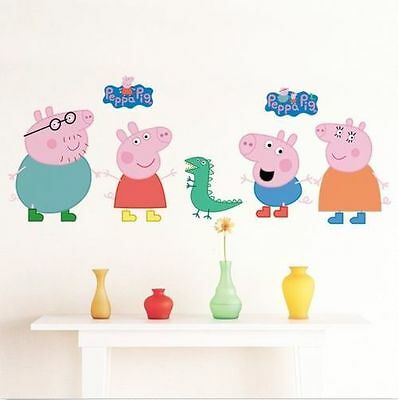 Peppa Pig George Removable Baby Nursery Home Decal Wall Sticker Vinyl Decor