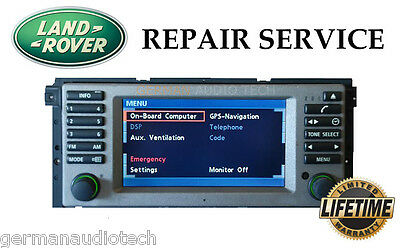 LCD REPLACEMENT SERVICE for RANGE ROVER HSE L322 NAVIGATION RADIO MONITOR SCREEN