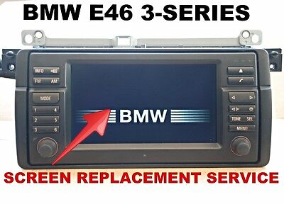LCD REPLACEMENT SERVICE for BMW E46 3-SERIES M3 WIDE SCREEN NAVIGATION MONITOR