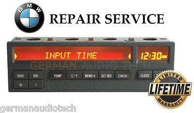 Bmw E36 11 Button On Board Computer (Obc) Pixel Lcd Display Repair Service Fix