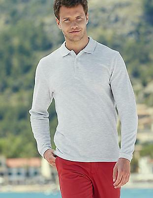 Herren Premium Long Sleeve Poloshirt | Fruit of the Loom