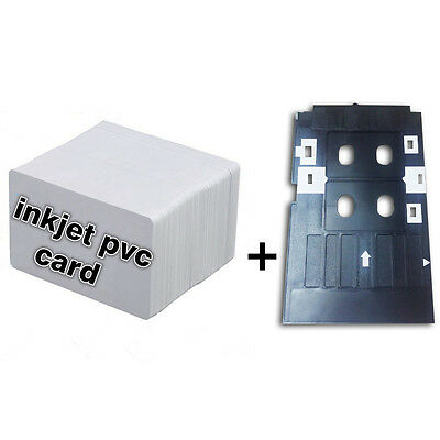 CSF Inkjet PVC ID Card Starter Kit - Epson L800 L801 - 10 PVC Cards & Card Tray
