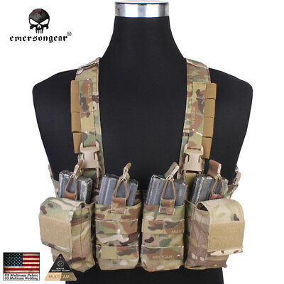 EASY Chest Rig EMERSON Tactical Plate Carrier Vest Genuine CORDURA MultiCam 7450