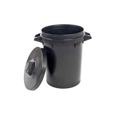90 Litre Heavy Duty Round Large Dustbin for Rubbish, Animal Feeds, Storage Bin