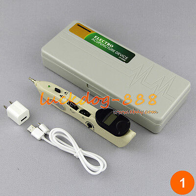 New LCD Massage Acupunture & Pressure Auto Search Point Therapy Pen Rechargeable