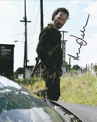 The Walking Dead Andrew Lincoln Signed Photo Size 10 x 8 inch Rick Grimes TV A4
