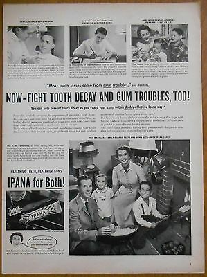 1949 vintage AD Patterson family of Maryland uses IPANA TOOTHPASTE