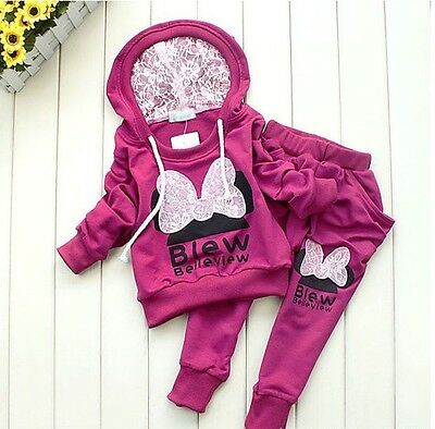 GirlsTracksuit Set Red Minnie Mouse Style