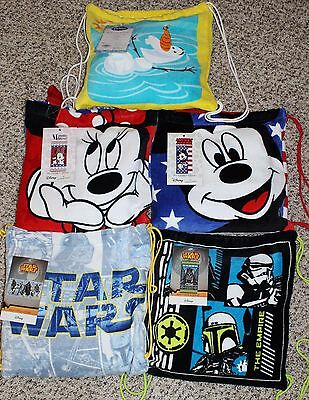 NEW Beach Towel Set with Backpack Tote Frozen Star Wars Mickey Minnie Mouse