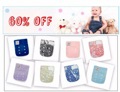 50% OFF! Lot of 100 Newborn Green Baby Bamboo Cloth Diapers+200 Bamboo Inserts