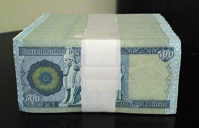Iraq Dinar New 4500 Lot Of 9 X 500 Dinar Notes  Unc From Bundle - 18 Sets Avail.