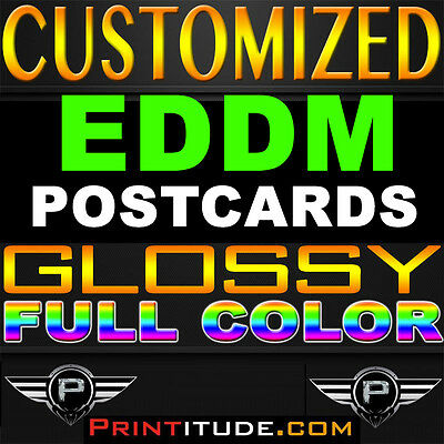5000 Every Door Direct Mail 6.5X9 Eddm Full Color 2Side 14Pt Postcard Customized