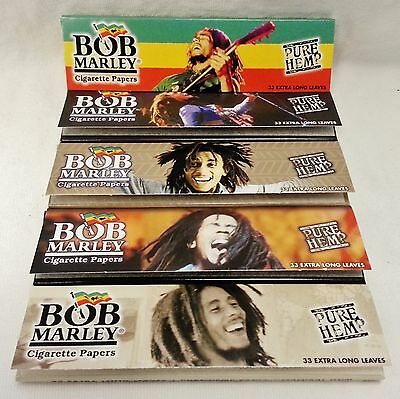 5 Packs Bob Marley King Size Cigarette Rolling Papers with Free Shipping