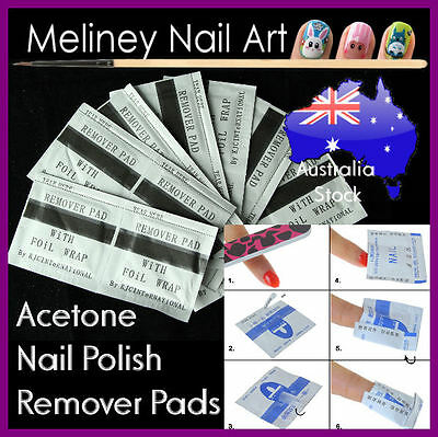 Acetone Nail Polish Remover Foil Wrap Pads Soaker Tool Manicure Cleaner Gel UV