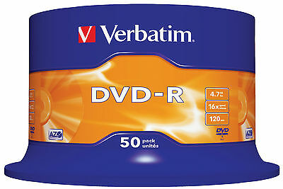 400 DVD -R VERBATIM VERGINI VUOTI 16X Advanced Azo dvdr 4.7 GB + 500 BUSTINE DVD