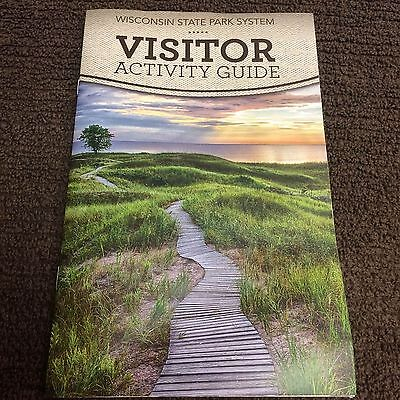 """Wisconsin State Park System Visitor Activity Guide 26 pages 8-1/2"""" x 5-1/2"""""""