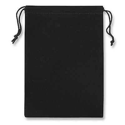 "10 Pack Large 5"" x 7"" Velvet Black Pouches Gift Bag Jewelry With Drawstrings New"