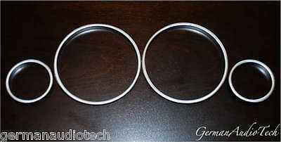 BMW SATIN SILVER GAUGE RINGS for SPEEDOMETER CLUSTER E39 528 540 E53 X5 E38 740