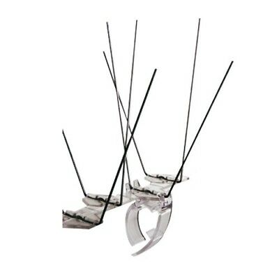 AVIPOINT AVICLIPS x 10 PACK Bird Spike Gutter Clips  Clear Plastic Polycarbonate