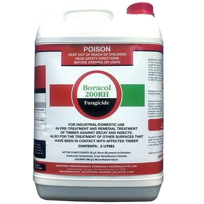 BORACOL 200RH FUNGICIDE - Remedial Wood Timber Treatment Against Termite Attack