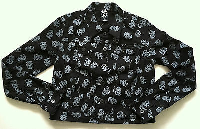 MISFITS Women's All Over Print Jean Jacket LARGE (feind punk danzig)