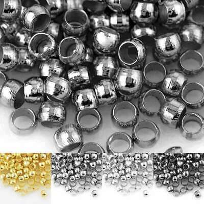 20g Round Spacer Crimp End Beads Jewelry Making Finding Wholesale 2-3mm