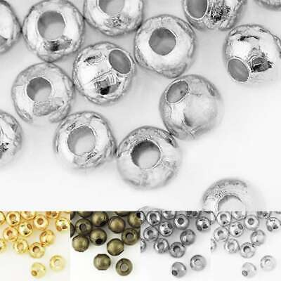 20g (Approx 150/60pcs) Round Crimps Beads Spacer End Jewellery Findings 4/6mm