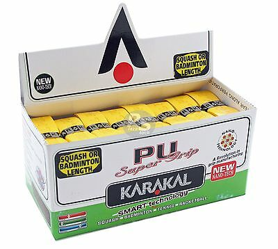 Karakal Super PU Replacement Grips Yellow - Squash - Badminton