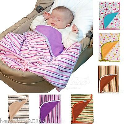 Soft Swaddle Cosy Cotton Two-Sided Mat Blanket Ines Newborn Baby Infant Cuddle