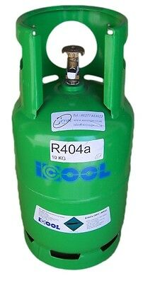 10kgs Refrigerant R404a  in a full refillable cylinder- accreditation required