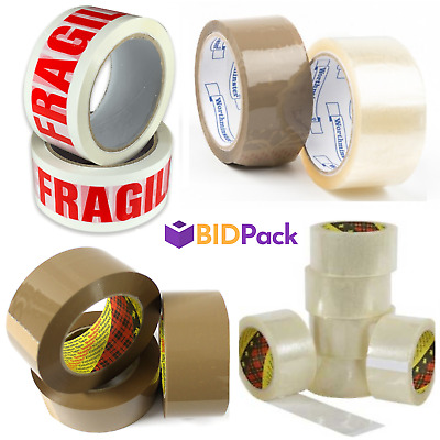 3M SCOTCH Clear and Buff Parcel Packing Tapes (General Purpose and Low Noise)