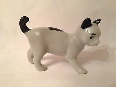 "Porcelain Cat Figurine Made in Japan 2"" tall"