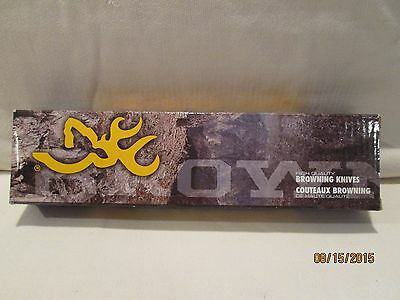 BROWNING 322798 OBSESSION FIXED BLADE KNIFE WITH SNAP SHEATH NEW IN  MANUF. BOX