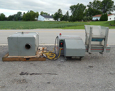 Polymer Systems 88A Auger Feeder Granulator w/ blower in sound proof enclosure