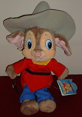 FIEVEL Vintage Applause plush w/Tags 1991 An American Tail: Fievel Goes West