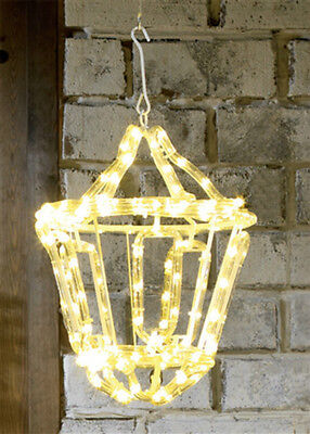 Indoor Outdoor Warm White LED Rope Light Lantern Christmas Decoration Garden