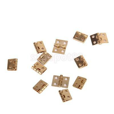 12pcs Small Door Hinges With Screws Dollhouse Miniatures Fixture & Fittings